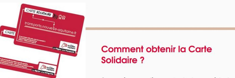 carte solidaire nouvelle aquitaine La Carte Solidaire   Jeune à Bordeaux